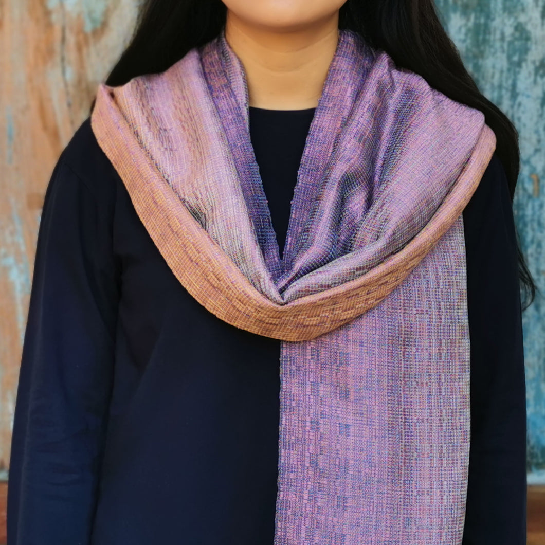Silk/cotton scarf
