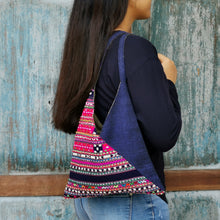 "Load image into Gallery viewer, Shoulder bag ""Karen"" (Pink/Blue)(S)"