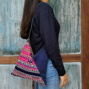 "Shoulder bag ""Karen"" (Pink/Blue)(S)"