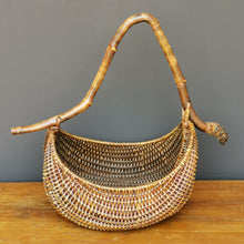 Load image into Gallery viewer, Rattan basket with bamboo handle