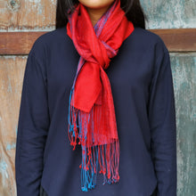 "Load image into Gallery viewer, Silk scarf ""Red"""