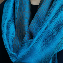 "Load image into Gallery viewer, Silk scarf ""Deep sea"""