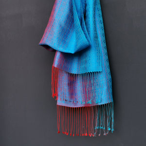 "Silk scarf ""Blue"""