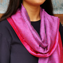 "Load image into Gallery viewer, Silk scarf ""Fuchsia"""