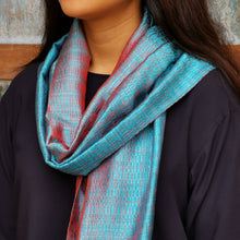 "Load image into Gallery viewer, Silk scarf ""Pale Blue"""