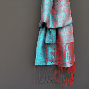 "Silk scarf ""Pale Blue"""