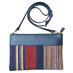 "Shoulder-strap bag with tassel ""Stripes"""