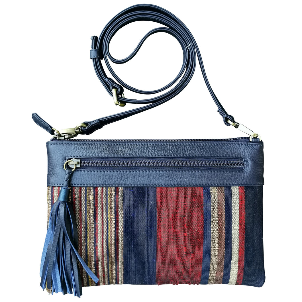Shoulder-strap bag with tassel