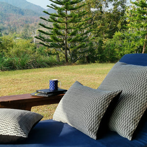 "Cushion cover ""Arakan Check"" (Rectangular)"