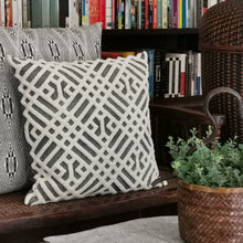 "Load image into Gallery viewer, Cushion cover ""Chenille"" (White/Gray)"