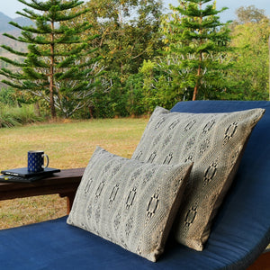 "Cushion cover ""Vietnamese Diamond"" (White) (Rectangular)"