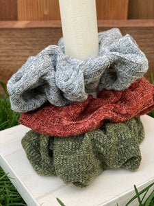 Sweater Knit Set of 3 Scrunchies