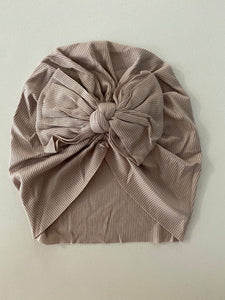 Bow Ribbed Turban