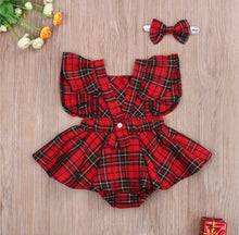 Load image into Gallery viewer, Plaid Romper