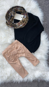 Champagne Bow Leggings