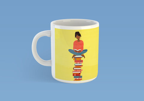 Book Lover Mug - Yellow (inc. UK P&P)