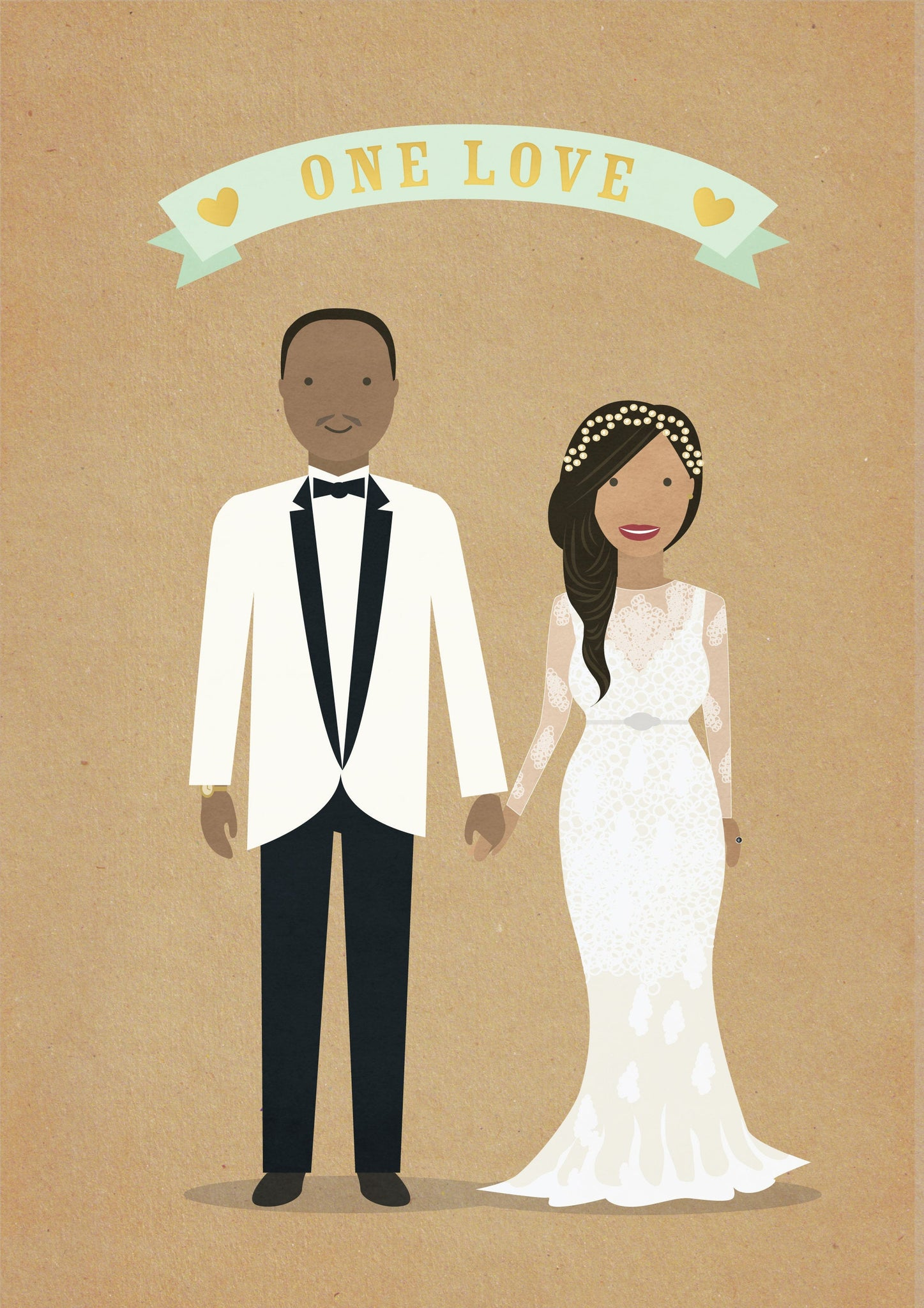 Digital custom couple illustration - file delivered