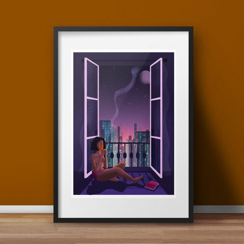 The Woman at the Window Art Print - various sizes