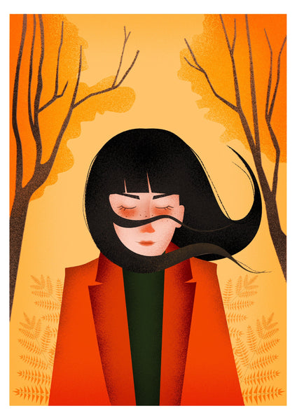 Autumn Breeze Art Print - A4 giclée