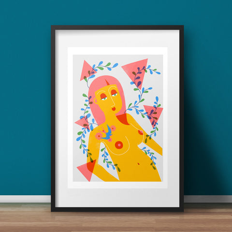 The Triangle Woman Art Print - various sizes (inc. UK P&P)