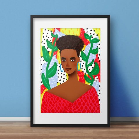 Pattern Queen Art Print - various sizes (inc. UK P&P)