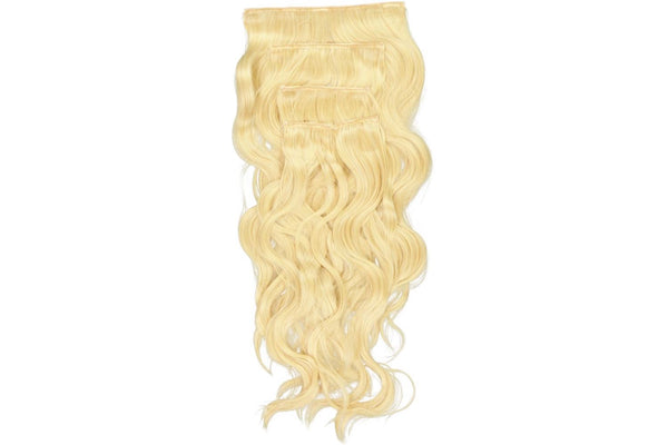 Go-To Glam wavy Clip in Hair Extensions   Champagne Blond