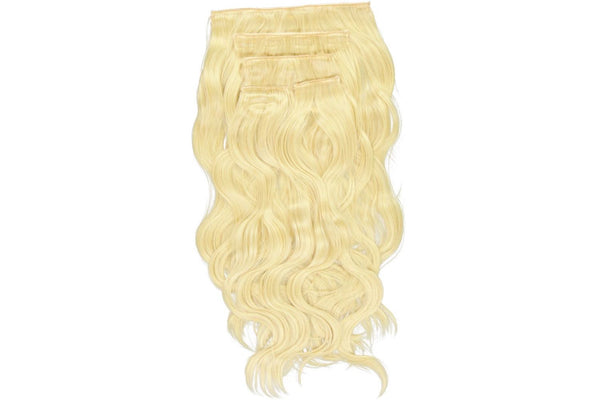 Go-To Glam wavy Clip in Hair Extensions Scandinavian blond