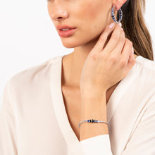 Load image into Gallery viewer, OMBRE SAPPHIRE HOOPS