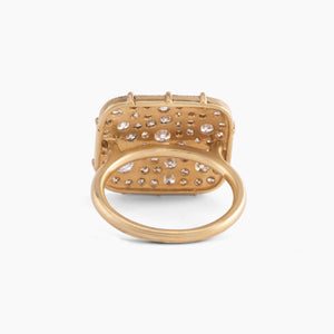 Scattered Diamond Gold Band Ring