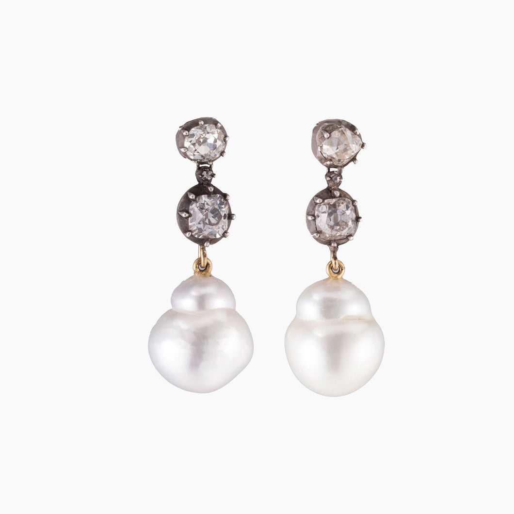 GEORGIAN PEARL EARRINGS