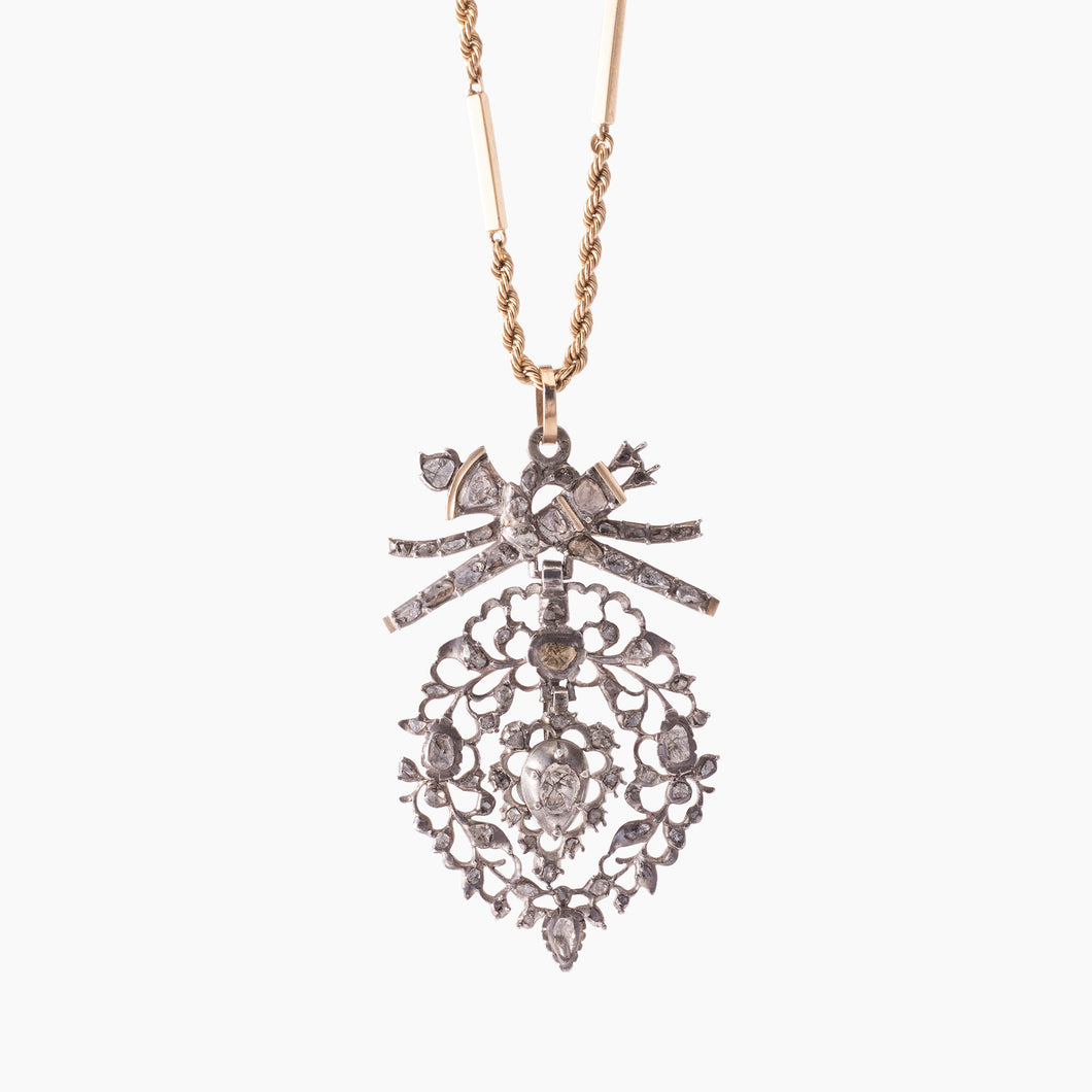 FLEMISH HEART DIAMOND PENDANT