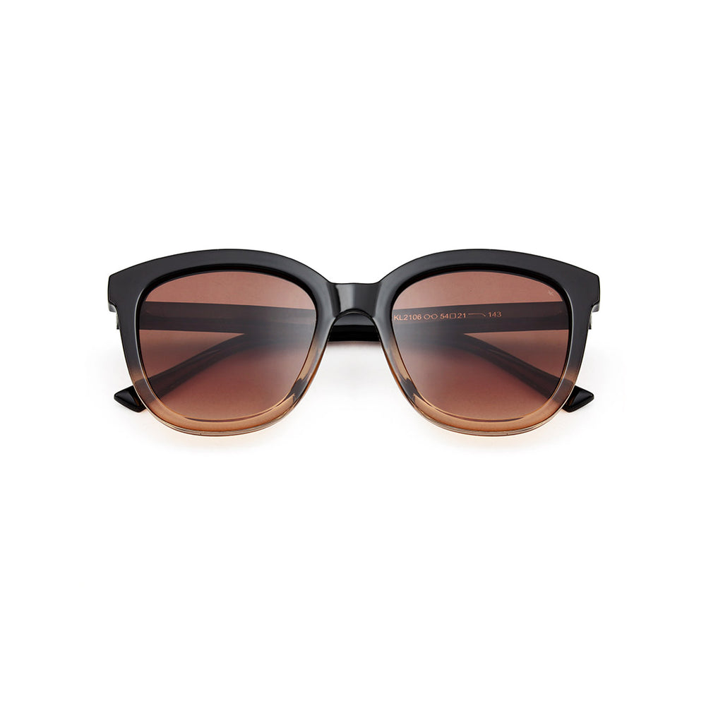A. Kjærbede Billy Solbrille / Black/Brown Transparent