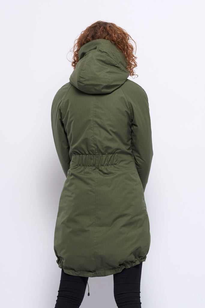 Froks Freja Winter Parka Jakke / Army water resistant cotton