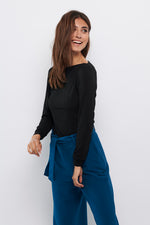Tolsing Paris Bluse / Sort uld