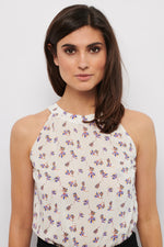 Tolsing Vega Top / White Summer Flowers and Gold