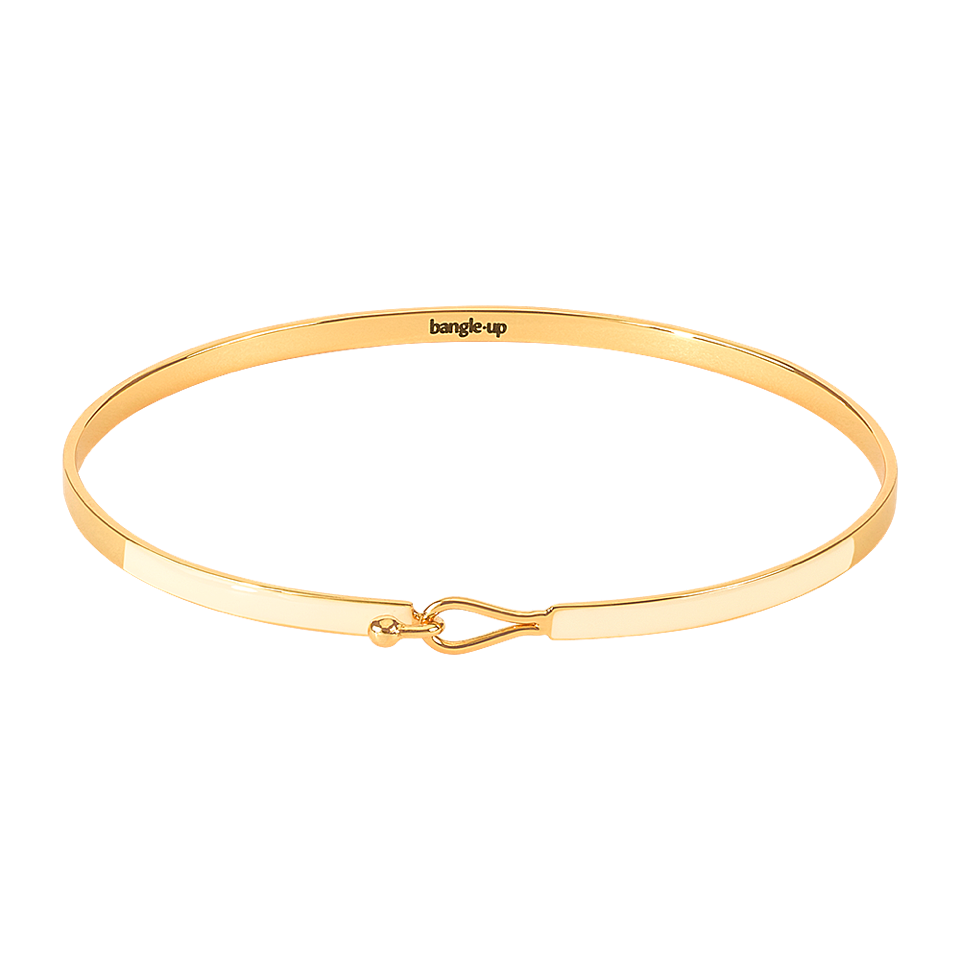 Bangle Up Lily Armbånd / Sand white