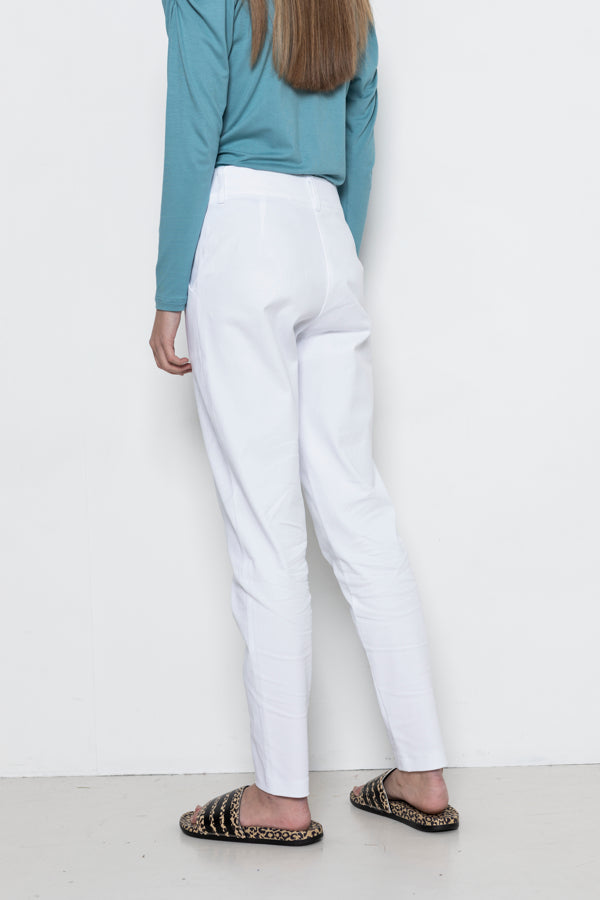 Sophia Lee Tora Pants / White Oeko-Tex