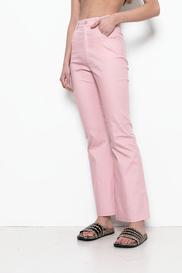 Sophia Lee Twiggy Pants / Rose white & dots - Oeko-Tex