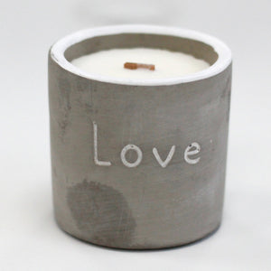 Concrete Pot Scented Candles - Soap Scent & Home