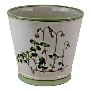 Ceramic Round Planter, Diameter 17cm