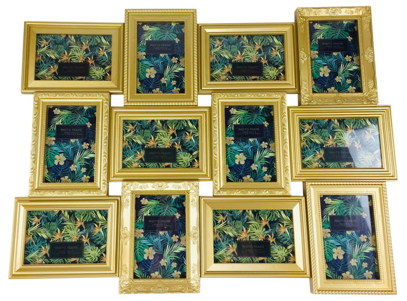 12 Multi Gold Photo Frames 69x52cm - Soap Scent & Home