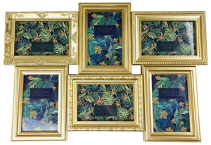6 Multi Gold Photo Frames 52x35cm - Soap Scent & Home