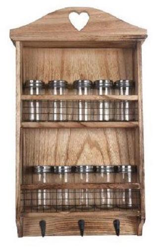 Wooden Spice Wall Rack - Soap Scent & Home