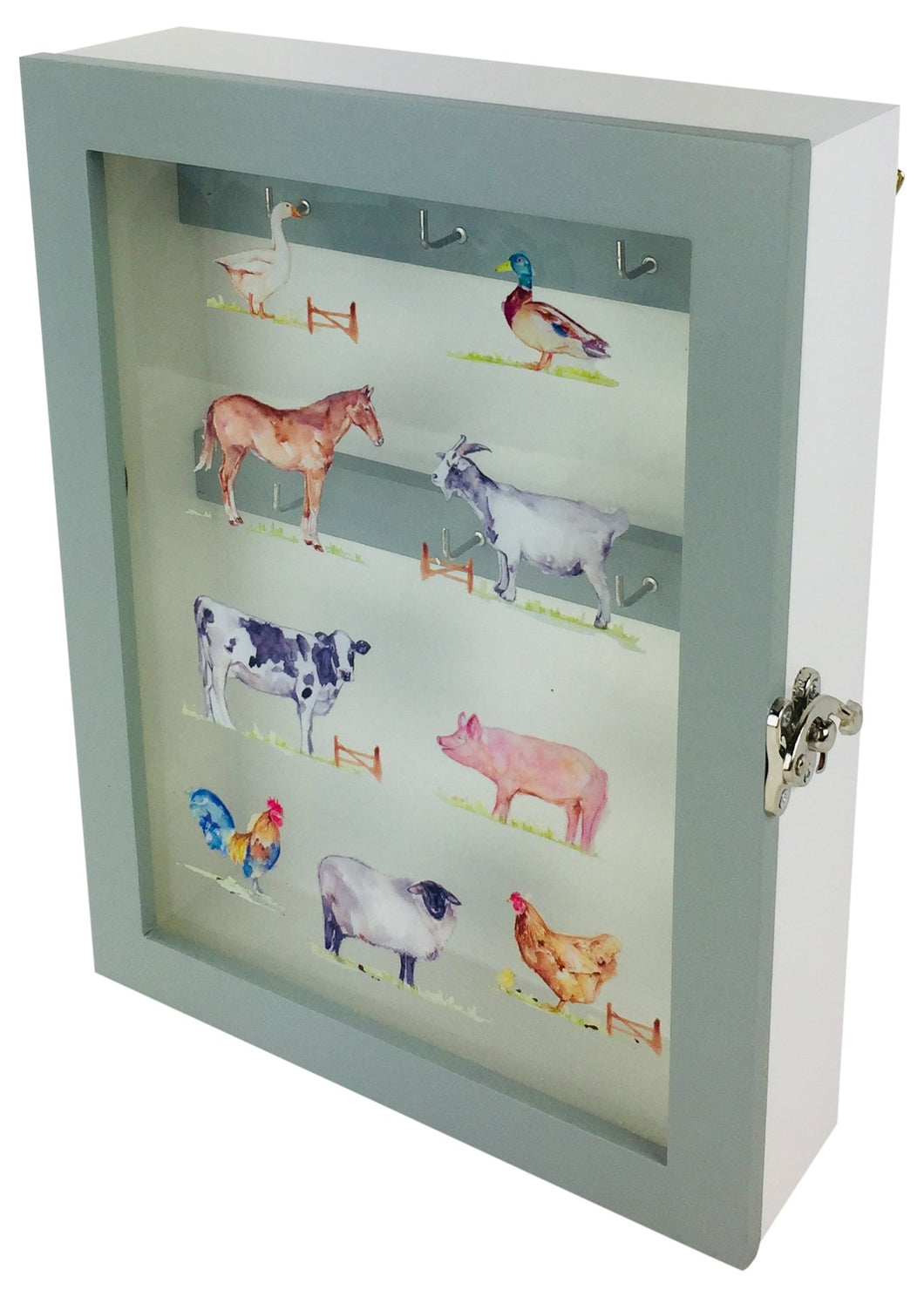 Country Life Farm Wooden Key Cabinet 26 cm