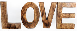 LOVE Wooden Letters Sign - Soap Scent & Home