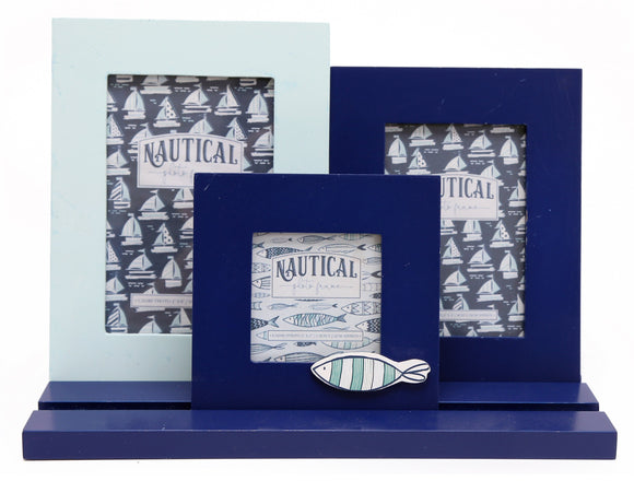 Fish Sea Life Three Frames on Tray - Soap Scent & Home