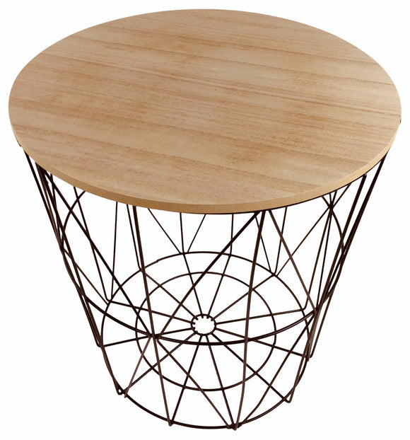 Geometric Black Wire Circular Side Table - Soap Scent & Home