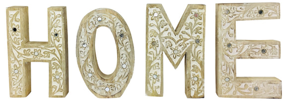 HOME Flower Design Wooden Letters - Soap Scent & Home