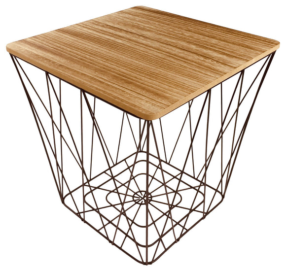 Geometric Black Wire Square Side Table - Soap Scent & Home
