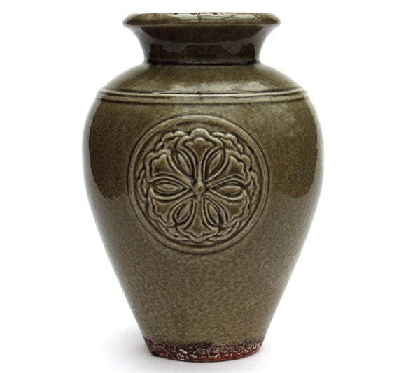 Olive Embossed Vase - Soap Scent & Home